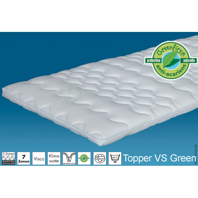 hn8 topper vs green matratzenauflage topper. Black Bedroom Furniture Sets. Home Design Ideas