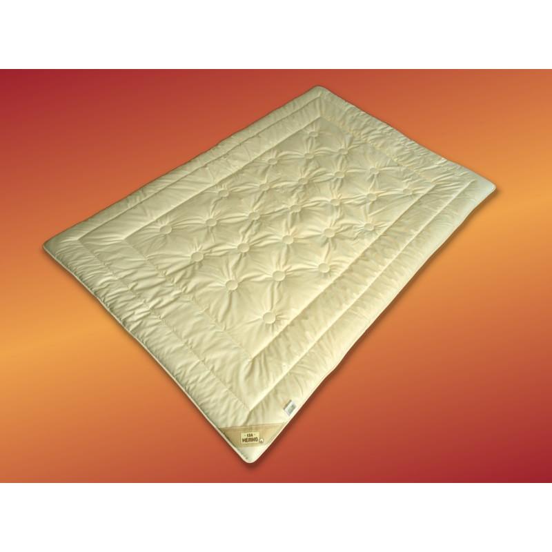 Merino Schurwolle Natur Duo Leicht Bettdecke 155x220 cm KBT ohne Schadstoffe